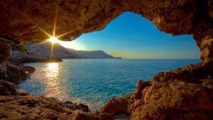 gruta-ao-amanhecer